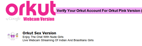 Phishing  Orkut