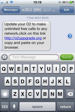 O2 phone scam