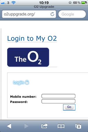 O2 Scam message